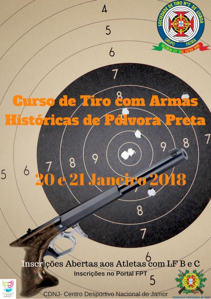 Curso de Tiro com Armas Históricas de Pólvora Preta
