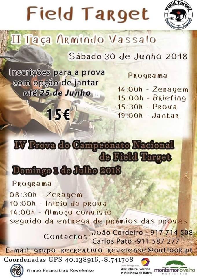 II Taça Armindo Vassalo / 4ª Prova Nacional Field Target 2018