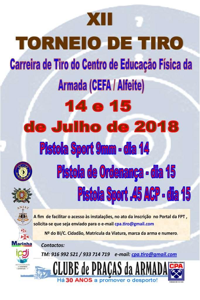 XII Torneio de Tiro CPA 2018